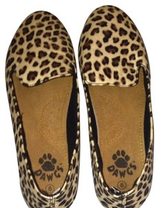 DAWGS Smoking Slipper Leopard Print Flats