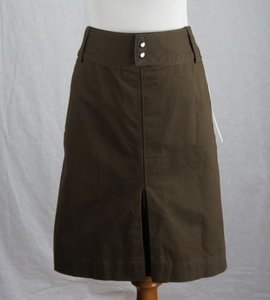 DKNY Cotton Blend Skirt Brown