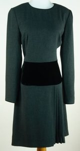 Kay Unger Velvet Trim Dress