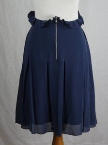Madewell Broadway Broome Silk Exposed Front Zipper Skirt Blue