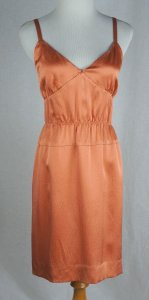 J.Crew short dress Orange Serenade Hammered Silk Guava on Tradesy