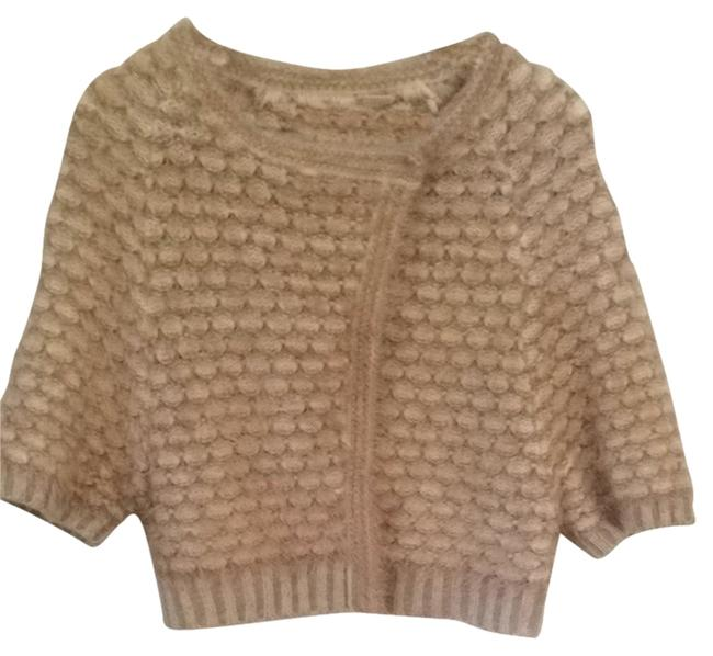 Preload https://item1.tradesy.com/images/anthropologie-cream-and-tan-moth-cardigan-size-0-xs-1378870-0-0.jpg?width=400&height=650