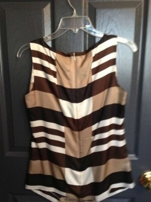 Tory Burch Top Brown and Off-White