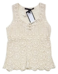 Robert Rodriguez Cream Crochet Top