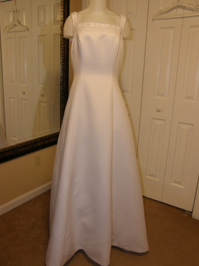 Alfred Angelo White 1967 Wedding Dress Size 12 (L)