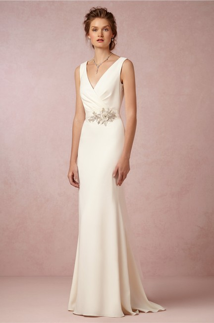Item - Cream Livia Gown / Bhldn Modern Wedding Dress Size 6 (S)