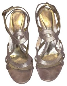 Sergio Rossi Metallic Suede Sandals