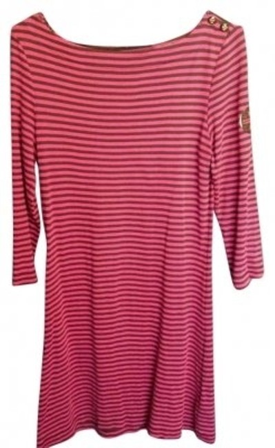 Preload https://item5.tradesy.com/images/tory-burch-fuchsia-and-dark-brown-knee-length-short-casual-dress-size-8-m-137909-0-0.jpg?width=400&height=650