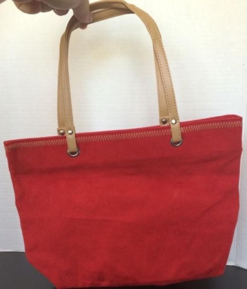 Other Faux Suede Handbag Purse Red Clutch