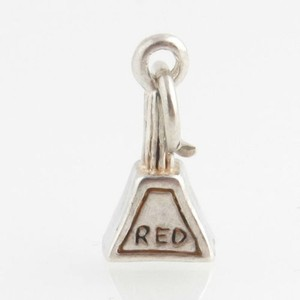 Mystery Sign Charm - Sterling Silver 925 British Roadsign Red Triangle Post