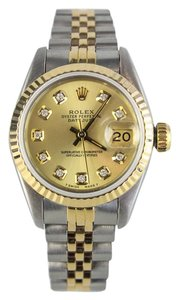 Rolex Two Tone Datejust 26mm With Custom Set Diamonds