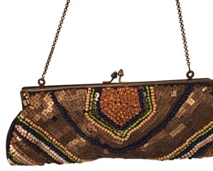 Arden B. Gold And blue Clutch