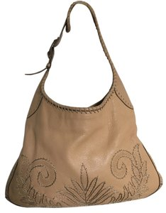 Cole Haan Leather Embroidered Hobo Bag
