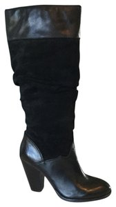 Zodiac Black Suede and Leather Slouchy Boots