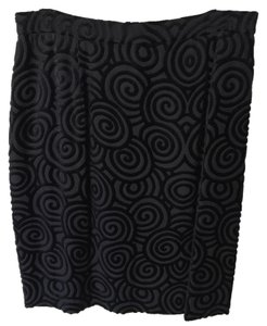 Anne Klein Skirt black velvet