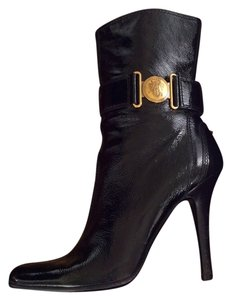 Gucci Gold Hardware Black Boots