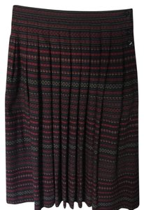 Jaeger Skirt Black/Red/White