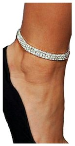 Rhinestone crystal Choker necklace Rhinestone andd crystals Ankle Bracelet, foot jewelry, stretchy adjustable ankle bracelet, silver ,2016 jewelry necklace trend