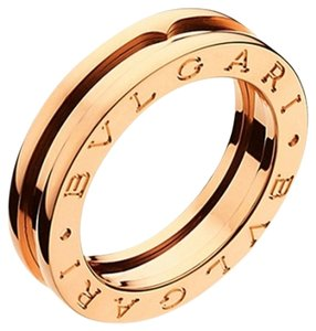BVLGARI Bvlgari 18K Rose Gold Ring AN852422 US 4.25