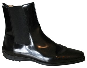 Tod's Black Patent Boots