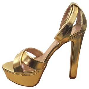 Victoria's Secret Gold Platforms
