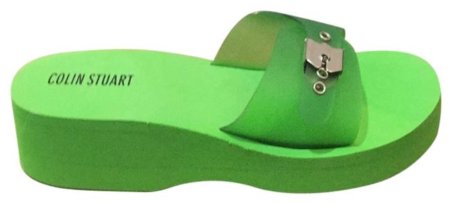 Item - Green Wedge Sandals Size US 9 Regular (M, B)