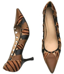 Bijou Heels Leather Calf Fur Multi-Colored Pumps