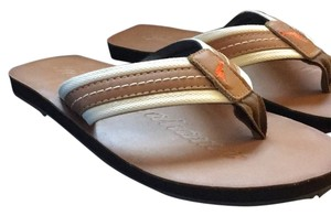 Tommy Bahama Tan with ivory trim Sandals