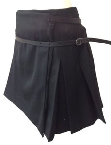 Burberry London Pleated Burberry Burberry Mini Skirt Black