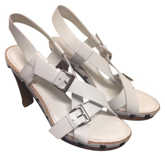 Franco Sarto White Sandals