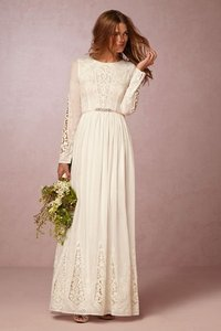 BHLDN Ivory Cotton Mckenna Day Casual Wedding Dress Size 8 (M)