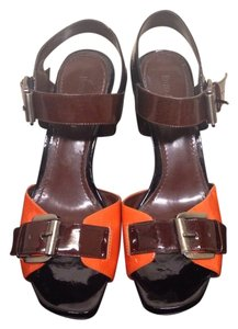 Enzo Angiolini Orange/brown Sandals