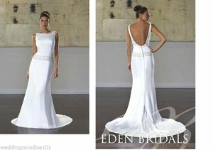 Eden Ivory 2193 Destination Wedding Dress Size 12 (L)