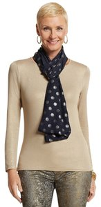 Chico's Chico's Navy Blue Foil Dot Infinity Scarf