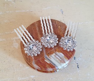 Sparky Mini Bridal Hair Comb Silver