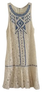 Lustero short dress Ivory Drop Waist Lace Boho on Tradesy