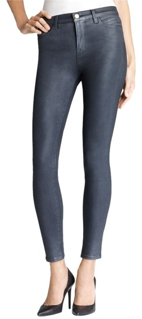 Item - Varnished Steel Coated Maria High Rise Skinny Jeans Size 25 (2, XS)