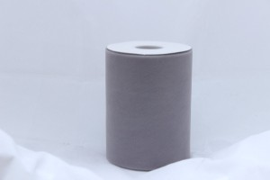 Grey Tulle Huge Roll - 100 Yd X 6 In Grey Tulle Spool - Tulle Roll Free Ship