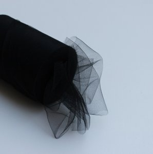 Black Tulle Huge Roll - 100 Yd X 6 In Black Tulle Spool - Tulle Roll Free Ship