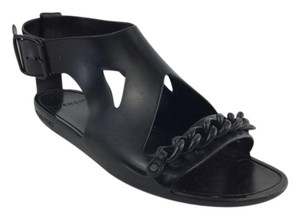 Givenchy Chain Rubber Sandal Cutout Black Sandals