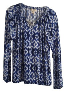 MICHAEL Michael Kors Top Blue and white ikat