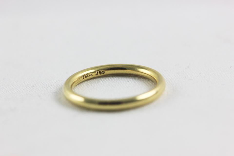 025f7dea1 Vintage Tiffany and Co wedding band 18k yellow gold Image 3. 1234