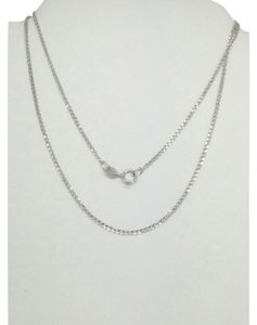 14K White Gold Foxtail Chain 20