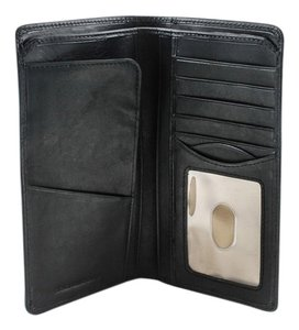 Tony Perotti Tony Perotti Italian Cow Leather Bifold Combination Checkbook Wallet with ID Window