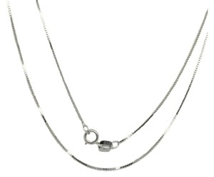 14K White Gold Box Chain 20