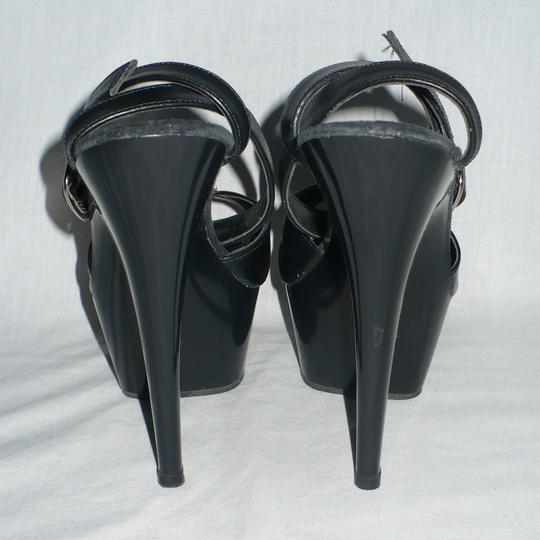 Sunset Strip Stiletto Exotic Dance Costume Ankle Leather Black Platforms