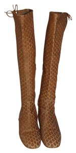 Christian Louboutin Pony Hair Leopard Red Soles brown Boots