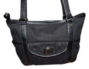Tignanello Canvas Tote Matching Wristlet Shoulder Bag