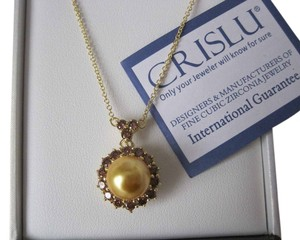 CRISLU $190 CRISLU .925 Sterling SILVER & 18K GOLD Necklace Pendant BRAND NEW