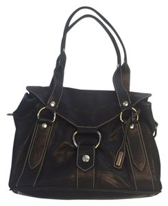 Miu Miu Soft Black Leather Silver Hardware Premium Satchel